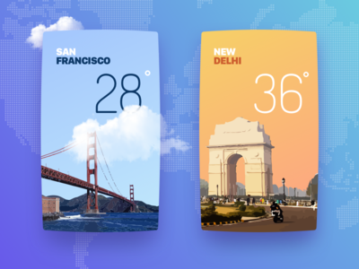 Weather cards options