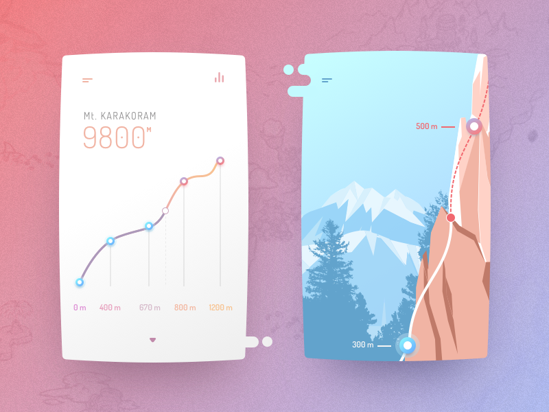 Hiking, rock climbing concept app uxui app design dribbble userinterface interaction appdesigner animation interface ui ux