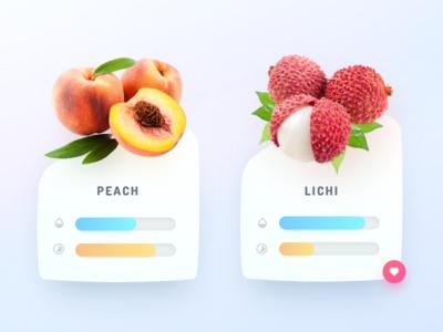 Fruits Card Widgets