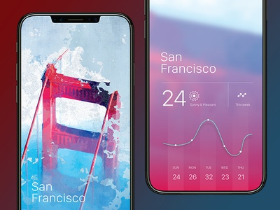 Weather app for iPhone X