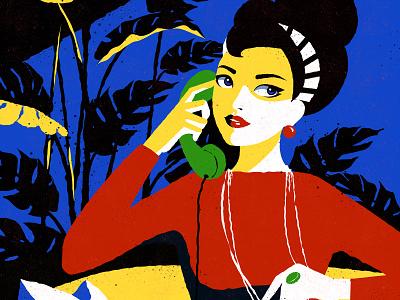 News branding art adobe 2d graphic design design tree summer girl home flower vector illustration