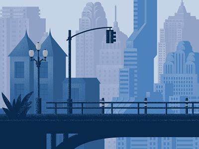City buildings city window winter tree home vector design illustration