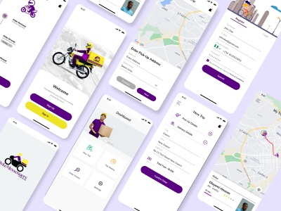 Delivery App design ux ui