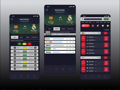 Sport Tipster App design ux ui