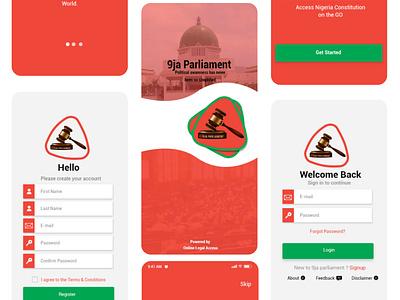 9ja Parliament App Design illustration design ux graphic design