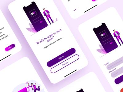 Welcome screen. formui uiux design uidesign