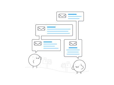 Scheduling Headaches vector scheduling email illustration