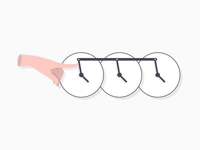 Efficient Time Management efficient action bulk availability hand time clock vector illustration