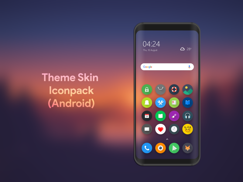 Theme Iconpack For Android android play store minimal flat theme design theme colorful uidesign material iconography iconset app icon illustraion android app design