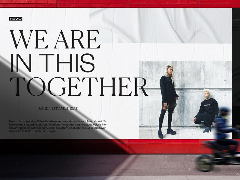 Fevo Poster brand identity visual identity graphic design layout typography poster typography style fashion branding design