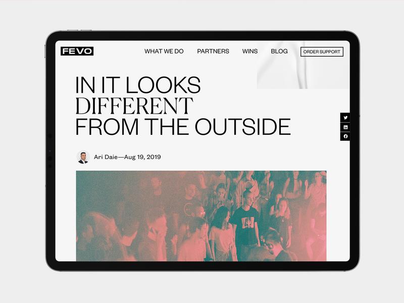 Fevo graphic design website ui  ux fashion interactive website design ui