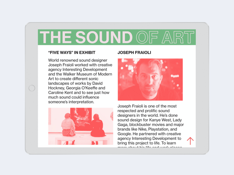 Sound of Art Website duotone layout graphic design website builder website exhibit museum