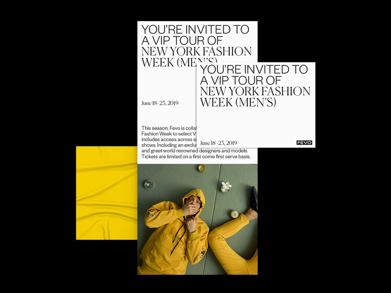 Fevo Branding graphicdesign poster typography print design print fashion