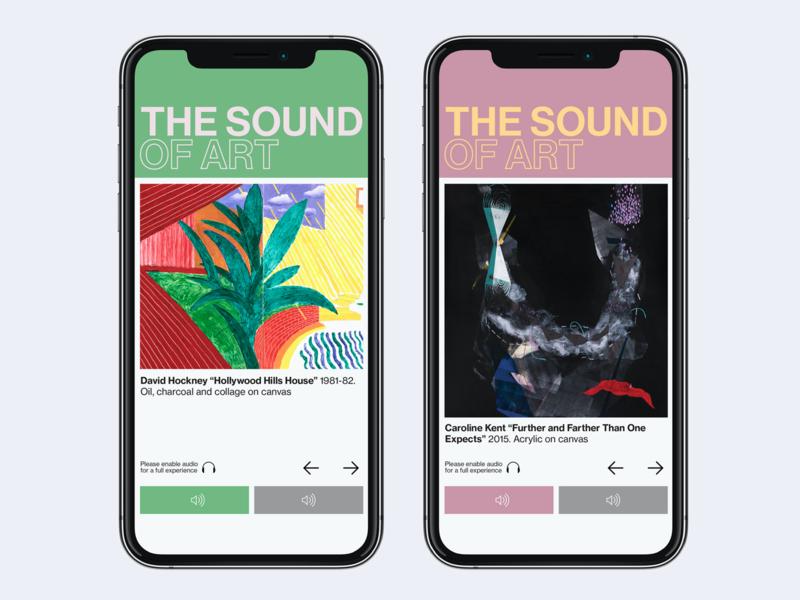 The Sound of Art museum gallery art userinterface exhibit gallery sound design uiux ui