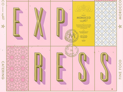 Marrakesh Express morocco shadow graphic design collateral brand poster typography type identity branding