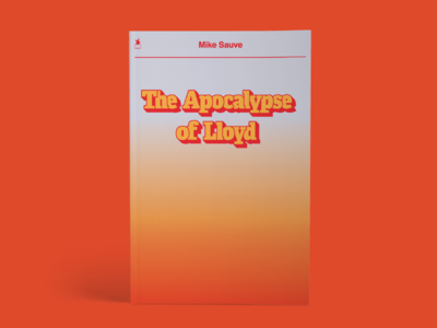 Apocalypse of Lloyd book shadow type gradient typography poster cover print book cover