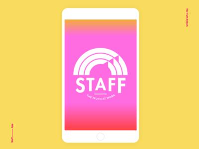 Staff App interactive graphic design design visual design rainbow gradient color startup app branding identity logo