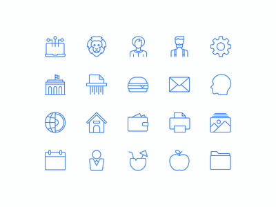 Sleekons Minimalistic Icons design material line set ux ui symbol vector minimal thin icons