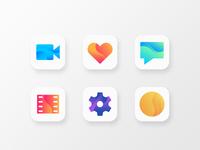 Gradient App Icons