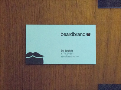 Beardbrand business cards black white duplex classic crest wood business cards black  white