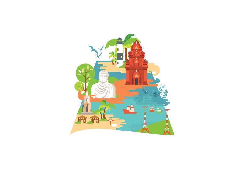 Nha Trang - Go to the beach!!! nha trang vietnam illustrator travel
