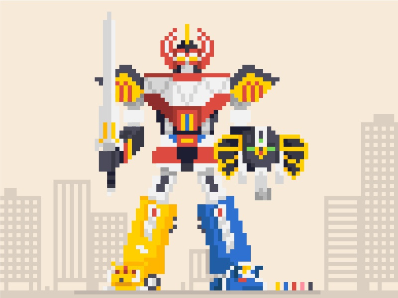 Mighty Morphin Power Rangers pixel pixel art 90s megazord power rangers mighty morphin power rangers