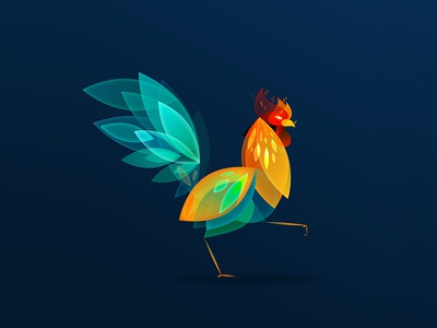 Year of the Rooster chicken new year rooster vector