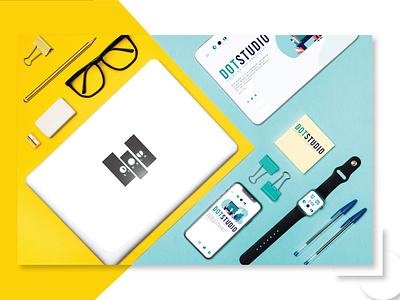Dot Stationary logodesign logo design icon typography stationary design minimalist logo illustration design versatile logo logo branding