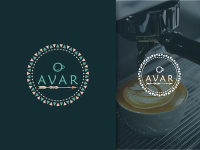 Avar Café logo illustration brand identity graphic design restaurant logo food logo design versatile logo logo branding cup coffee cup coffee coffee logo cafe logo cafe café