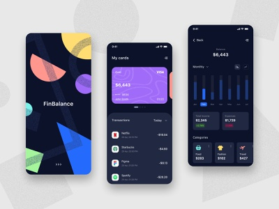 FinBalance concept app banking finance app fintech app fintech finance ux mobile app app ui design