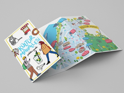 City Guide with illustrated map izmir guide city illustration illustrated map