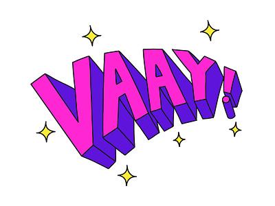 Vaay! typography type letter lettering illustration turkey stickers set sticker snapchat