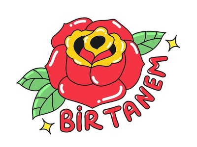 Rose tattoo rose illustration turkey stickers set sticker snapchat