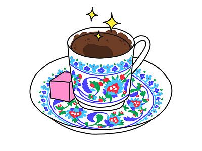Turkish coffee coffee illustration turkey stickers set sticker snapchat