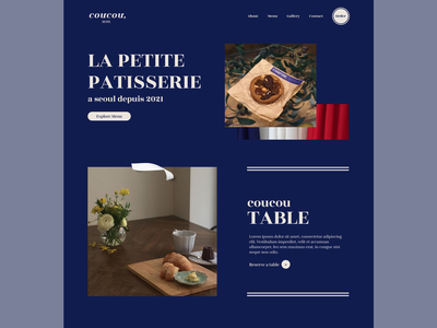 Coucou Website Design: Home Page user interface design web branding typography ecommerce website concept ui ux marketing website e-commerce design clean minimal home page web design visual design ui design