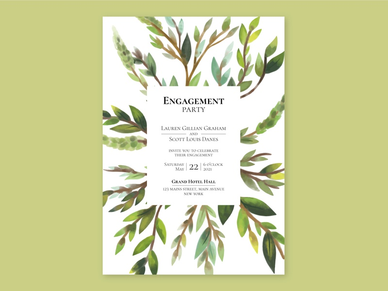 FREEPIK Floral Engagement Card designs engagement card engagement artist flat editorial art vector 2d art direction art illustration design