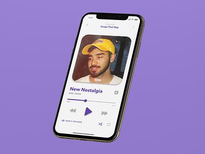 UI Challenge: Music Player color phone ux streaming iphone ios media player player music photoshop sketch mockup ui minimal flat design dailyui
