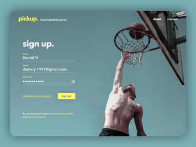 UI Challenge: Sign Up