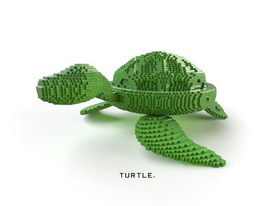 Turtle c4d cinema4d vray rendering voxygen