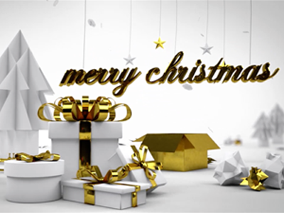 White Christmas - personal christmas whishes video c4d animated mograph christmas card