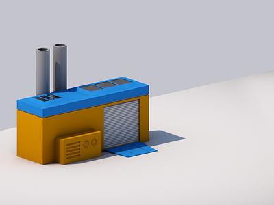 isometric factory lowpoly rnd render c4d