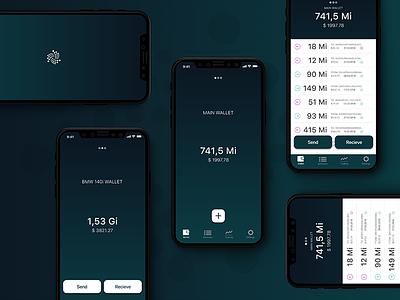IOTA Trinity Wallet 2.0 ux ui app digital design cryptocurrencies iotatoken iota