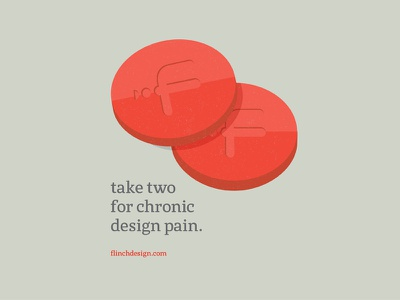 For chronic design pain pain red clever pills advertisement ad design minimal flat illustration
