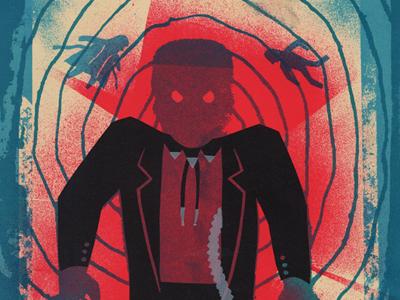 Villain #4 Frank Booth blue velvet silkscreen screen print versus villain dennis hopper