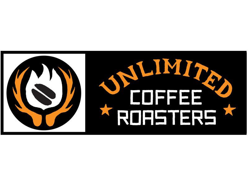 Unlimited Coffee Logo  unlimited coffee japan antlers fire roast