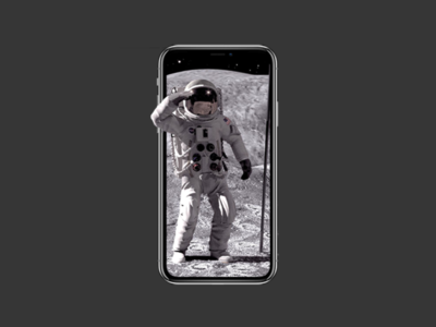 Astronaut iPhone Pop Out branding graphic design pop-out 3d iphone space astronaut clean art web graphic design