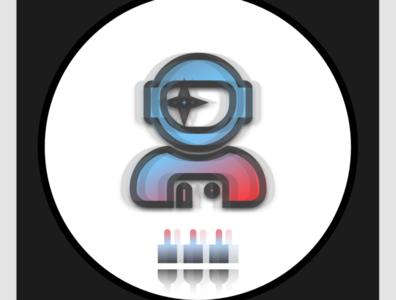 """Space Plug"" – Circle Icon (Light) graphic design profile logodesign flat illustrator minimal website web icon logo design graphic"