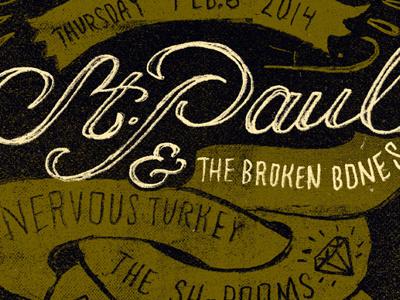 Stp gigposter music tampa florida snakes soul crowbar rock poster
