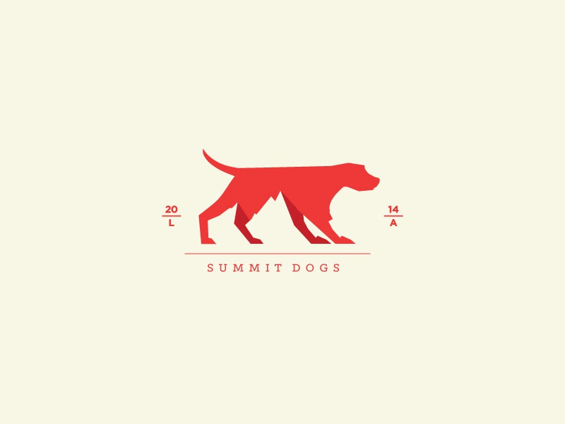 Summit Dogs dogs mountain logo la summit