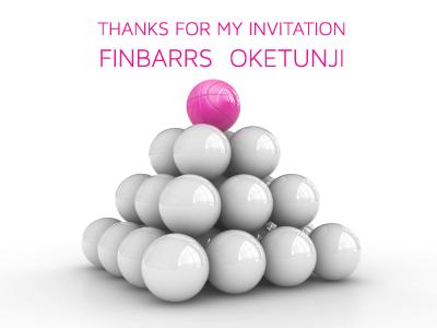 Thanks for the Dribbble invite Finbarrs dribbble invite invitation debut pyramid thanks thankyou top shot